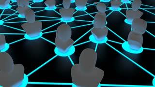 Blockchain ID, decentralized digital identity concept animation.
