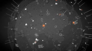 Digital design worldmap, network, technology.