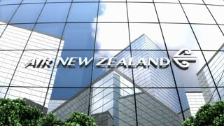 Editorial, Air New Zealand Limited logo on glass building.