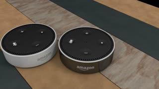 Editorial, Amazon Echo Dot device.