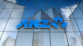 Editorial, Australia and New Zealand Banking Group Limited logo on glass building.