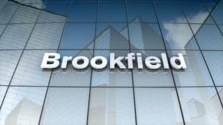 Editorial, Brookfield Asset Management, Inc. logo on glass building.