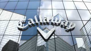 Editorial, Callaway Golf Company logo on glass building.