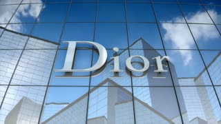 Editorial, Christian Dior SE logo on glass building.
