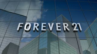 Editorial, Forever 21 logo on glass building.