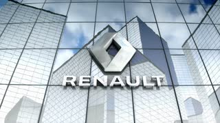 Editorial, Groupe Renault logo on glass building.