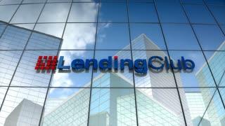 Editorial, LendingClub logo on glass building.