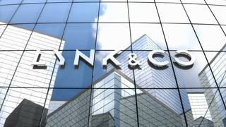 Editorial, Lynk & Co logo on glass building.
