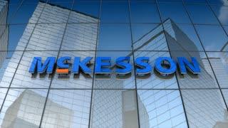 Editorial, McKesson corporation logo on glass building.