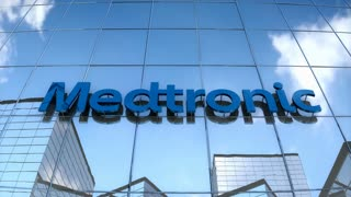 Editorial Medtronic on glass building.