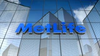 Editorial, MetLife, Inc. logo on glass building.