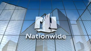 Editorial, Nationwide Mutual Insurance Company logo on glass building.