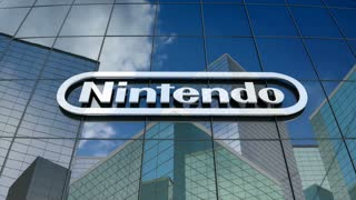 Editorial, Nintendo Co., Ltd. logo on glass building.