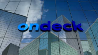 Editorial, On Deck Capital logo on glass building.