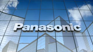 Editorial, Panasonic Corporation logo on glass building.