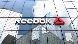 Editorial, Reebok International logo on glass building.