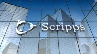 Editorial, Scripps Health logo on glass building.