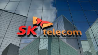 Editorial, SK Telecom Co., Ltd. logo on glass building.