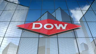 Editorial, The Dow Chemical Company logo on glass building.
