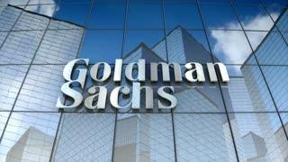 Editorial, The Goldman Sachs Group Inc. logo on glass building.