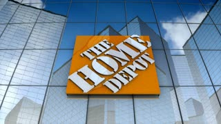 Editorial, The Home Depot, Inc. logo on glass building.