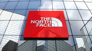 Editorial, The North Face, Inc. logo on glass building.