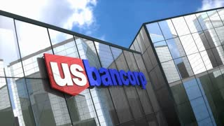 Editorial, U.S. Bancorp logo on glass building.
