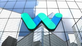 Editorial, Waymo LLC logo on glass building.
