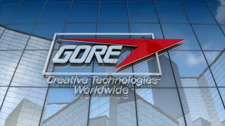 Editorial, W.L. Gore & Associates logo on glass building.