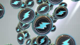 Electroneum coin, Digital currency animation.