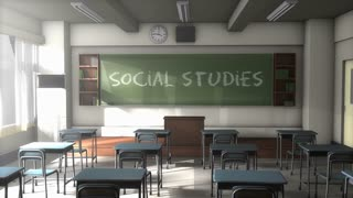 Empty Social studies school classroom