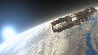 Sci-fi spaceship, star ship.