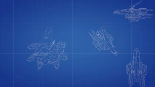 Spaceship blueprint animation