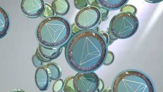 Tron coin, Digital currency animation.