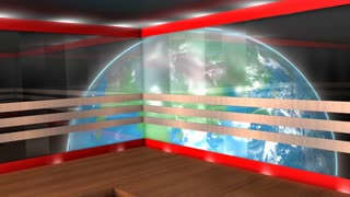 Virtual broadcasting set, internet, TV, stage, background.