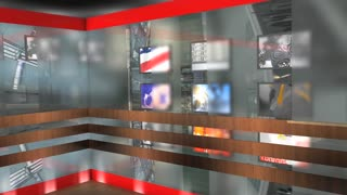 Virtual broadcasting set, TV, internet, online, streaming.