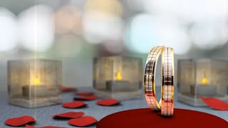 Wedding theme animation, rings.