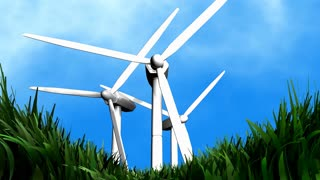 Wind energy background animation, electricity, energy.