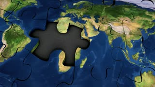World map puzzle, background, game.