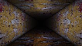 Abstract Urban Crack Wall Room Corridor