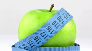 Apple and Measurement Diet Fit and Healthy Life