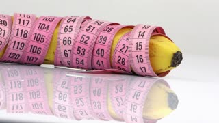 Banana and Measurement Diet Fit Healthy Life