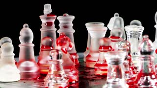 Bloody Chess Made By Glass