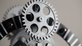 Mechanic Clock Gears Macro View
