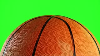Orange Basketball is Turning and Green Screen