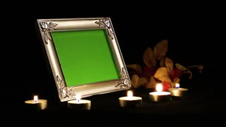 Photo Frame in Candle Light Romantic