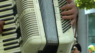 Playing with Accordion