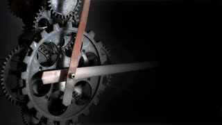 Retro Rusty Mechanic Clock Gears 5