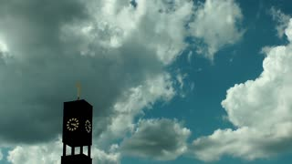 The Christian Church and Clouds Time Lapse