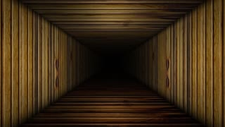 Urban Abstract Wooden Corridor Room Loop